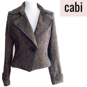 CAbi Style #638 Brown Tweed Motorcycle Jacket  8